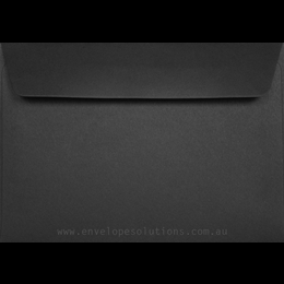 Card Envelope - 130 x 184mm Black 125gsm