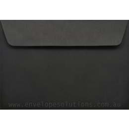Card Envelope - 130 x 184mm Kaskad Raven Black 100gsm