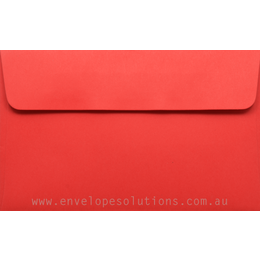 11B - 90 x 145mm Kaskad Rosella Red 100gsm Envelopes