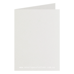 125 x 175mm Via Felt Bright White 270gsm Scored Card