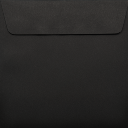 Square - 130 x 130mm Colorplan Ebony Black 135gsm Envelopes