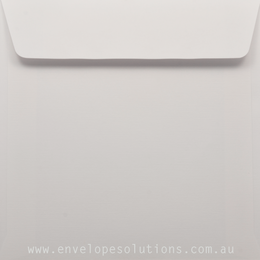 Square - 130 x 130mm Via Linen Pure White 118gsm Envelopes