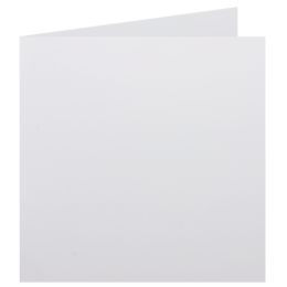 Square - 155 x 155mm Knight Smooth White 280gsm Scored Card