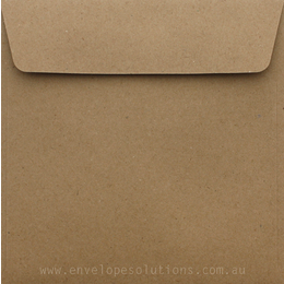 Square - 160 x 160mm Buffalo Kraft 110gsm Envelopes