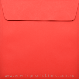 Square - 160 x 160mm Kaskad Rosella Red 100gsm Envelopes