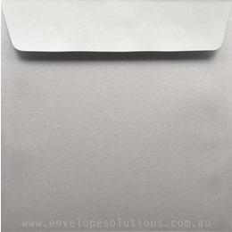 Square - 160 x 160mm Stardream Silver 120gsm Envelopes