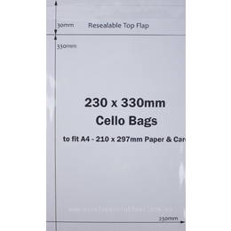 "230 x 330mm BOPP ""Cello"" Bags"