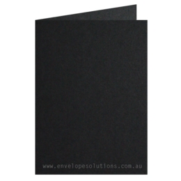 A6 - 105 x 148mm Keaykolour Original Jet Black 300gsm Scored Card