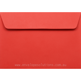 Card Envelope - 130 x 184mm Kaskad Rosella Red 100gsm