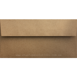 DL - 110 x 220mm Buffalo Kraft 110gsm Envelopes