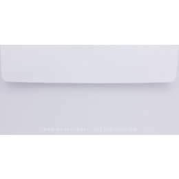 DL - 110 x 220mm Knight Smooth White 120gsm Envelopes