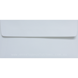 DL - 110 x 220mm Via Linen Pure White 118gsm Envelopes
