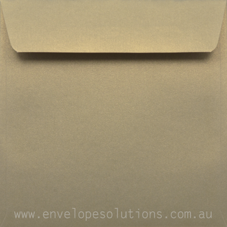 Square - 150 x 150mm Curious Metallic Gold Leaf 120gsm Envelopes
