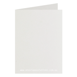 A6 - 105 x 148mm Via Linen Pure White 270gsm Scored Card